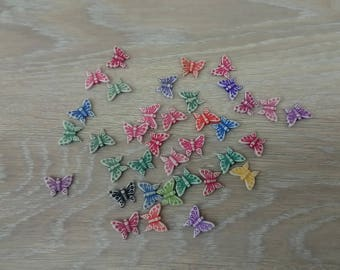 Set of 36 butterflies for jewelry making beads