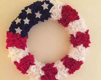 Patriotic Wreath, 4th of July Wreath, Memorial Day Wreath