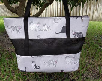 """Pet Carrier Shoulder Style """"-Kitty Cats""""-Ready to Ship"""