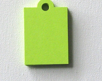 50 lime green gift tags  2.25 x 1.5 inches