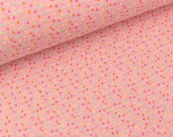 Hamburger Liebe 4 Color Jacquardjersey bits & bobs Rose melange-coloured (20.90 EUR/meter)