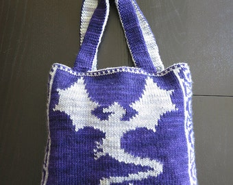 Knitting Pattern - Reversible Dragonflight Bag