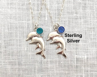 Dolphin Necklace, Beachy Jewelry, Silver Charm, Beach Lovers Gift, Summer, Best Friend, S0019