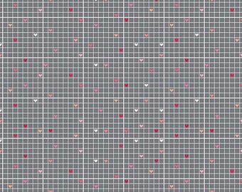 Lovebug Collections fabric, Riley Blake Designs, Grid in Gray (C5053-GRAY) -- By the Yard