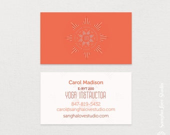 Yoga business card etsy more colors om flower card or wellness business card colourmoves