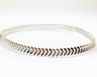12 Inch (30.5cm) x5mm Width Sterling Silver 935 Strip Gallery Decorative Ribbon, Pattern wire (C000173)