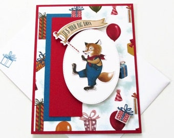 Fox Happy Birthday Greeting Card