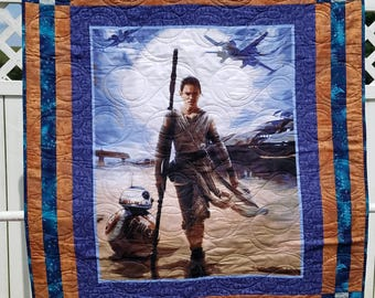 The Force Awakens Rey & BB8 Quilt Lap / Crib / Wall Hanging Size