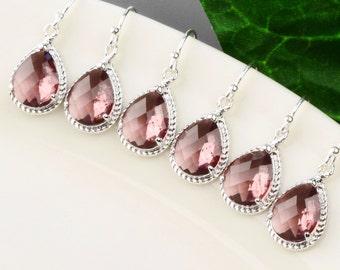 Plum earrings Etsy