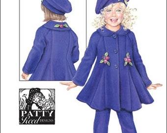 ON SALE Fleece Coat Pants/Leggings and Beret OOP Simplicity 2745 Little Girl's Sewing Pattern Sizes 3 - 4 -5 - 6 - 7 - 8 Uncut
