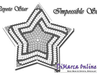 Beading Pattern/Tutorial Impossible 3D PEYOTE STAR + Basic Instructions