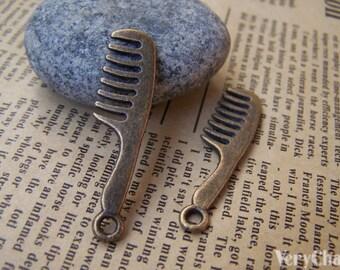 10 pcs of Antique Bronze Comb Charms 10x39mm A2778