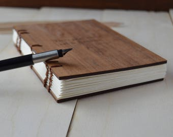 Wooden journal, coptic wood journal, notebook, travel journal, wood journal, writer journal, blank journal