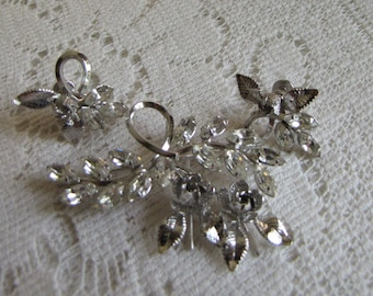 Star Art Sterling Silver Set Brooch and Earrings Vintage Jewelry and Women's Accessories Formal Wear 1950 to 1960
