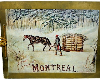 Montreal In Half Tone A Souvenir Over One Hundred Illustrations ca. 1890 Canada Pictorial Rare!