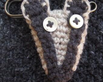 Badger Blanket Pin Brooch