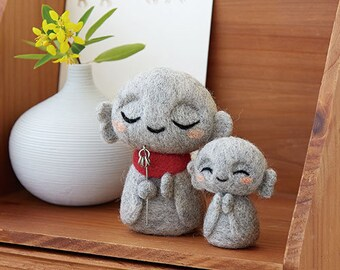 Hamanaka Needle Wool Felt Kit Jizo kawaii from Japan