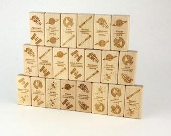 Space Explorer Dominoes 21 pc Maple Blocks