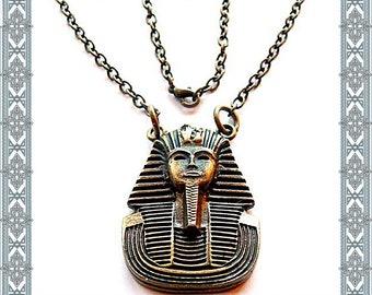 Necklace Tutankhamun Antique Brass ak with chain Egyptian gods-symbol necklace pendant pendant charm/pendant gothic amulet Medallion