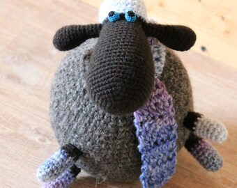 Round crochet sheep