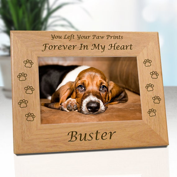 LOW COST SHIPPING Dog Memorial Frame Personalized With Name