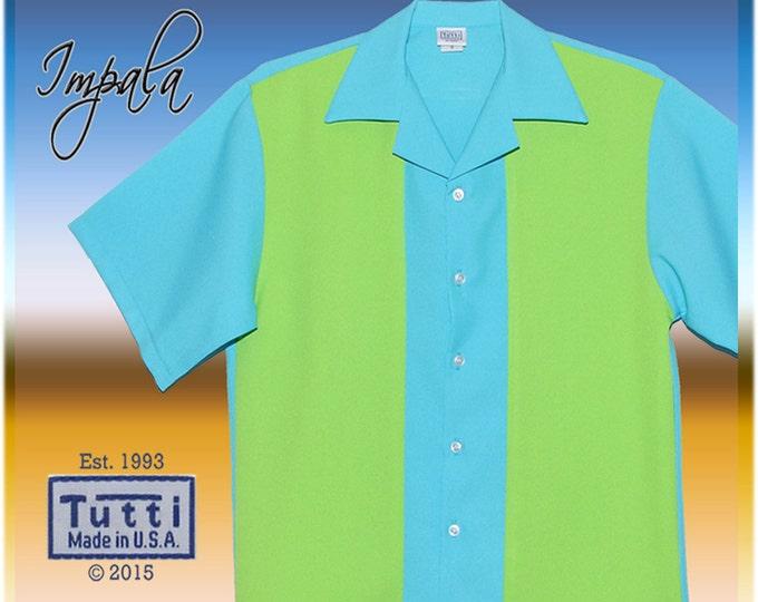 Bowling Shirts - Free Shipping - Impala Retro Bowling Style Street Wear Men's Shirt
