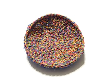 Twisted Melon Crocheted Cotton And Nylon Netting Dish Scrubbie- Large