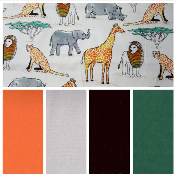 Jungle Animals, Weighted Blanket, Cotton Flannel, Up to Twin Size, 3 to 20 Pounds, Adult Weighted Blanket, SPD, Autism, Calming Blanket