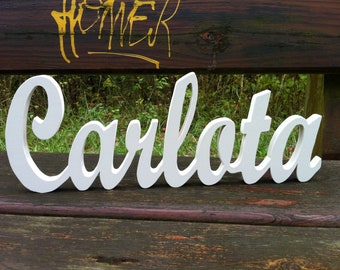Wooden letters attached 15cm (foot) Custom