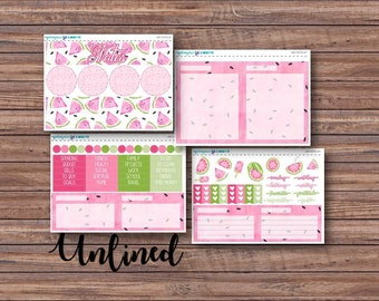 Juicy Notes Page Kit | Erin Condren Planner Stickers | Horizontal & Vertical | Monthly Notes Page