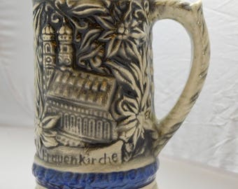 Large German Beer Stein Mug with Hofbrauhaus and Frauenkirche