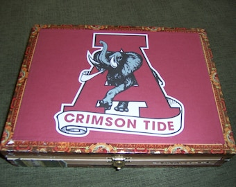 Crimson Tide Cigar Box Football Stadium