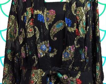 O So Fancy Vintage Brocade top and jacket set