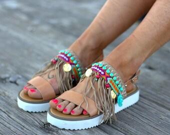 "Boho Sandals, Handmade Sandals, Leather Sandals, Sandals ""Malibu"""
