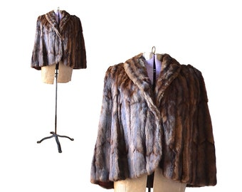 1940s fur 1940s coat fur cape brown mink 40s fur 1940s fur fur stole fur shrug 1940s clothing 40s clothing 1940s vintage 40s vintage