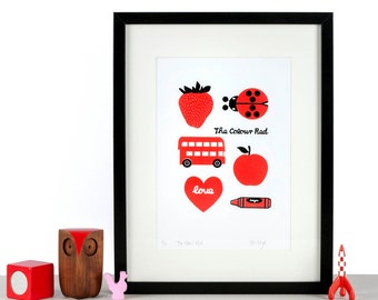 The Colour Red - Children's Art Screen print