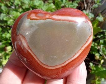 """Polychrome Jasper (Desert Jasper) Heart #8 - 2.3"""""""