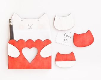 Refrigerator Magnet Set, Cat Lover Gift, Red Cat Fridge Magnet Set, Kitchen Organization, Red Kitchen Accessories, Housewarming Gifts
