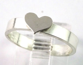 Heart Sterling Silver Stacking Ring