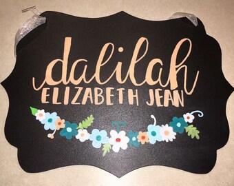 Name Chalkboard Sign