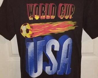 1994 World Cup USA Soccer Graphic T-Shirt Mens XL