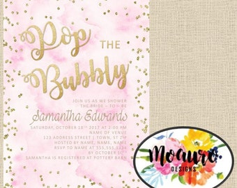 Pop the Bubbly Shower Invitation
