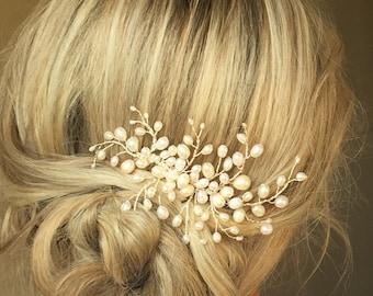 Pearl Swirl Comb- Bridal Hair Accessory, Wedding Vine, Hairpiece, Hair Adornment