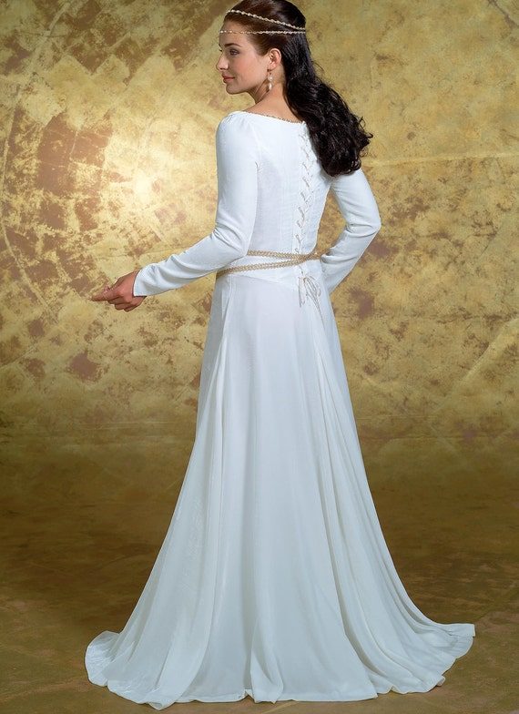 4377 Butterick Misses Full Length Gown with Flounce, Renaissance ...