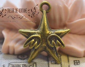 Set of 8 QDW151 bronze pendant, Angel, stars