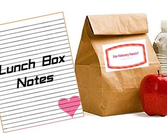 Lunch Box Jokes - Printable, Digital Download