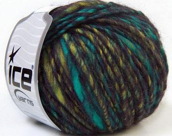Perfido Turquoise Purple Green, Wool Yarn, Bulky Yarn, Chunky Yarn, Knitting Yarn, Chunky Wool