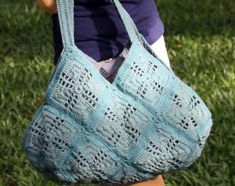 Unique crochet bag, Crochet granny squares bag, Crochet handbag, Shoulder bag, Tote bag
