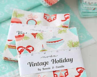 INSTOCK Vintage Holiday Charm Pack by Bonnie and Camille - Moda