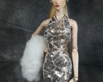"""Let's Party - Fashion for Fr2 and same size 12"""" doll"""